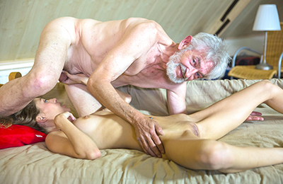 old men fuck adorable girls on beauty and the senior