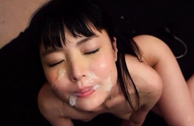 asian girls covered by lots of sperm