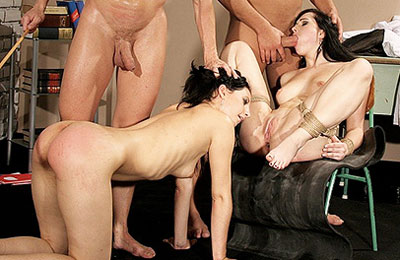 hardcore group sex for the best creampie